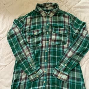 Mossimo long sleeve aqua/teal plaid shirt